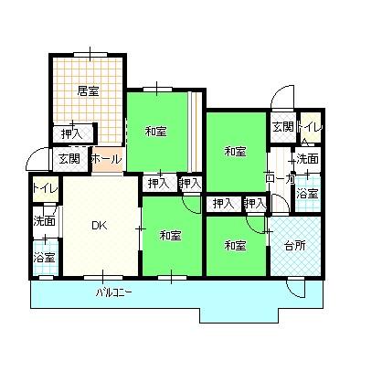 周南第3住宅6棟(高齢者向け)間取り