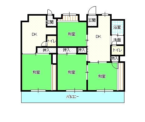 周南第3住宅11棟(高齢者向け)間取り