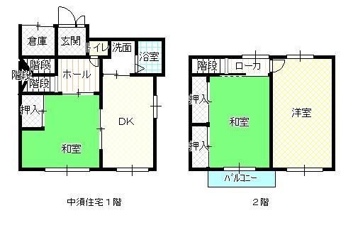 中須1階、2階間取り
